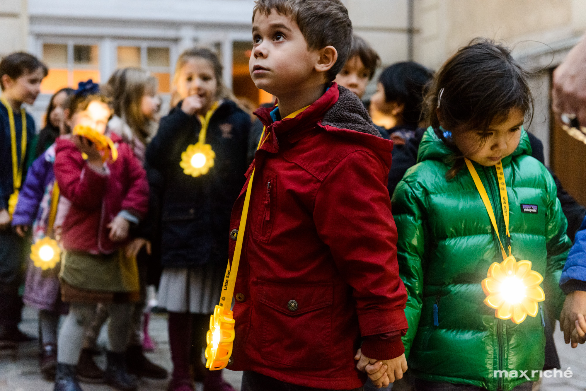 Little Sun at Ecole Massillon: a performance with Olafur Eliasson commissioned by ARTPORT_making waves, COP21, Paris, France, 2015