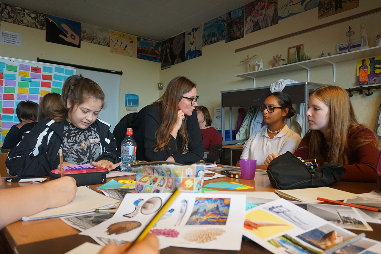 WIR SIND DAS MEER BERLIN Workshop at the Schule am Berlinnickeplatz, Berlin